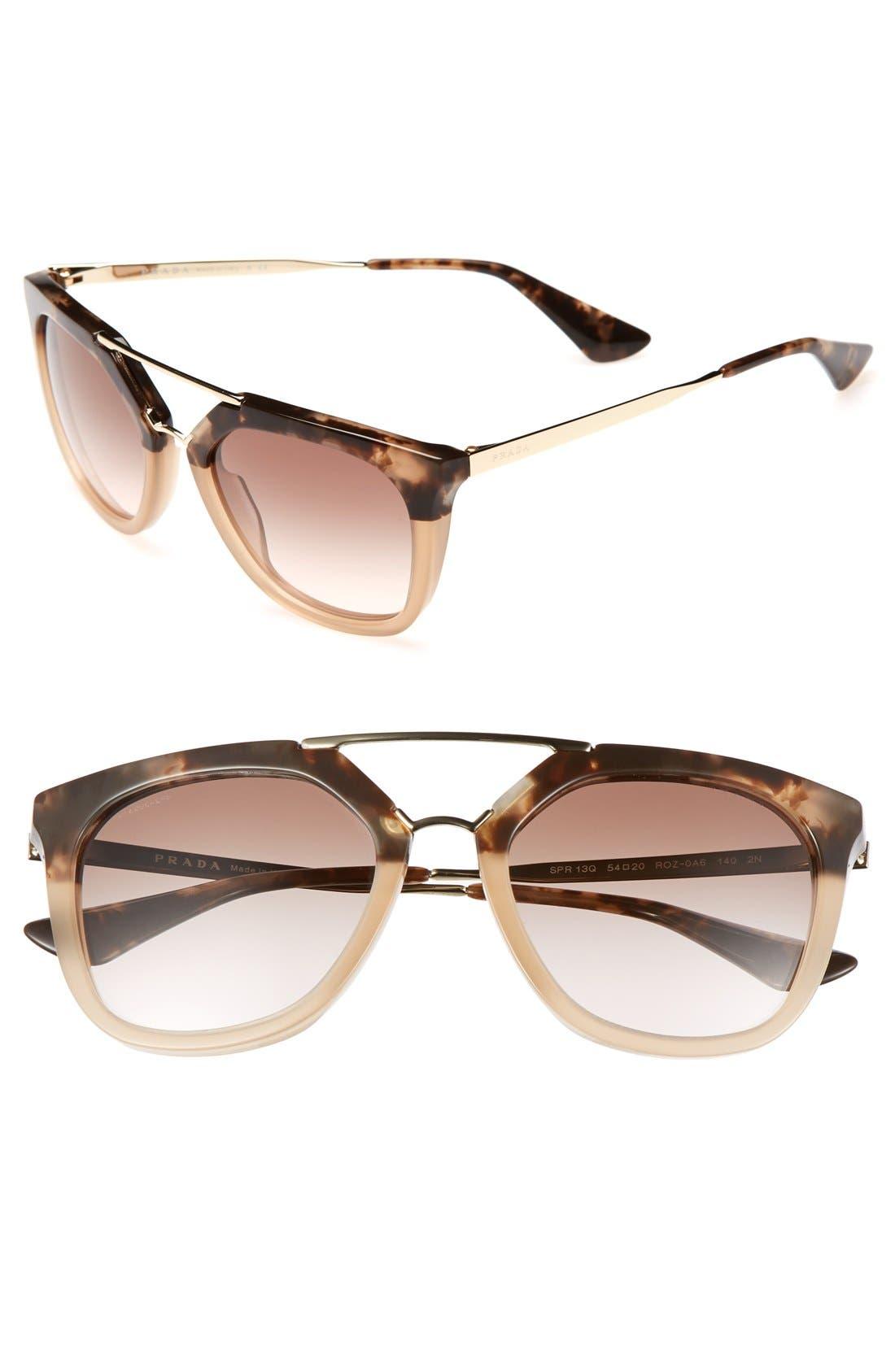 ,                             'Pilot' 54mm Sunglasses,                             Main thumbnail 3, color,                             201