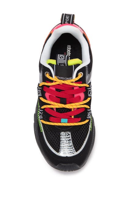 Image of Roberto Cavalli Double Lace-Up Sneaker
