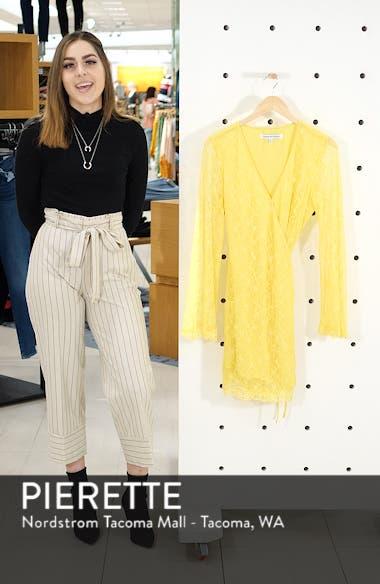 Lesley Lace Long Sleeve Wrap Dress, sales video thumbnail