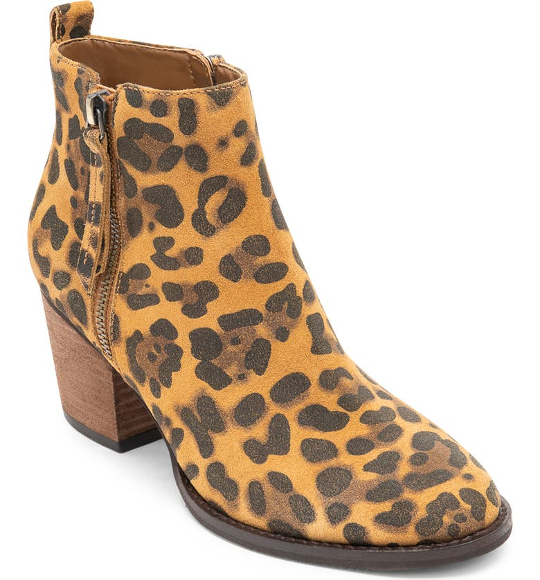 BLONDO Vegas II Waterproof Bootie, Main, color, LEOPARD SUEDE