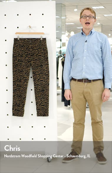 Caden Print Ankle Twill Trousers, sales video thumbnail