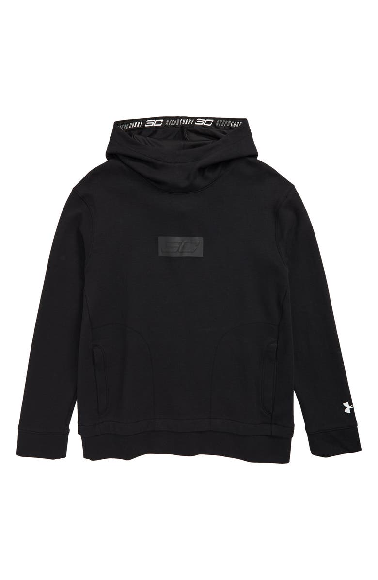 UNDER ARMOUR SC30 Lifestyle Warm-Up Pullover, Main, color, BLACK/ WHITE