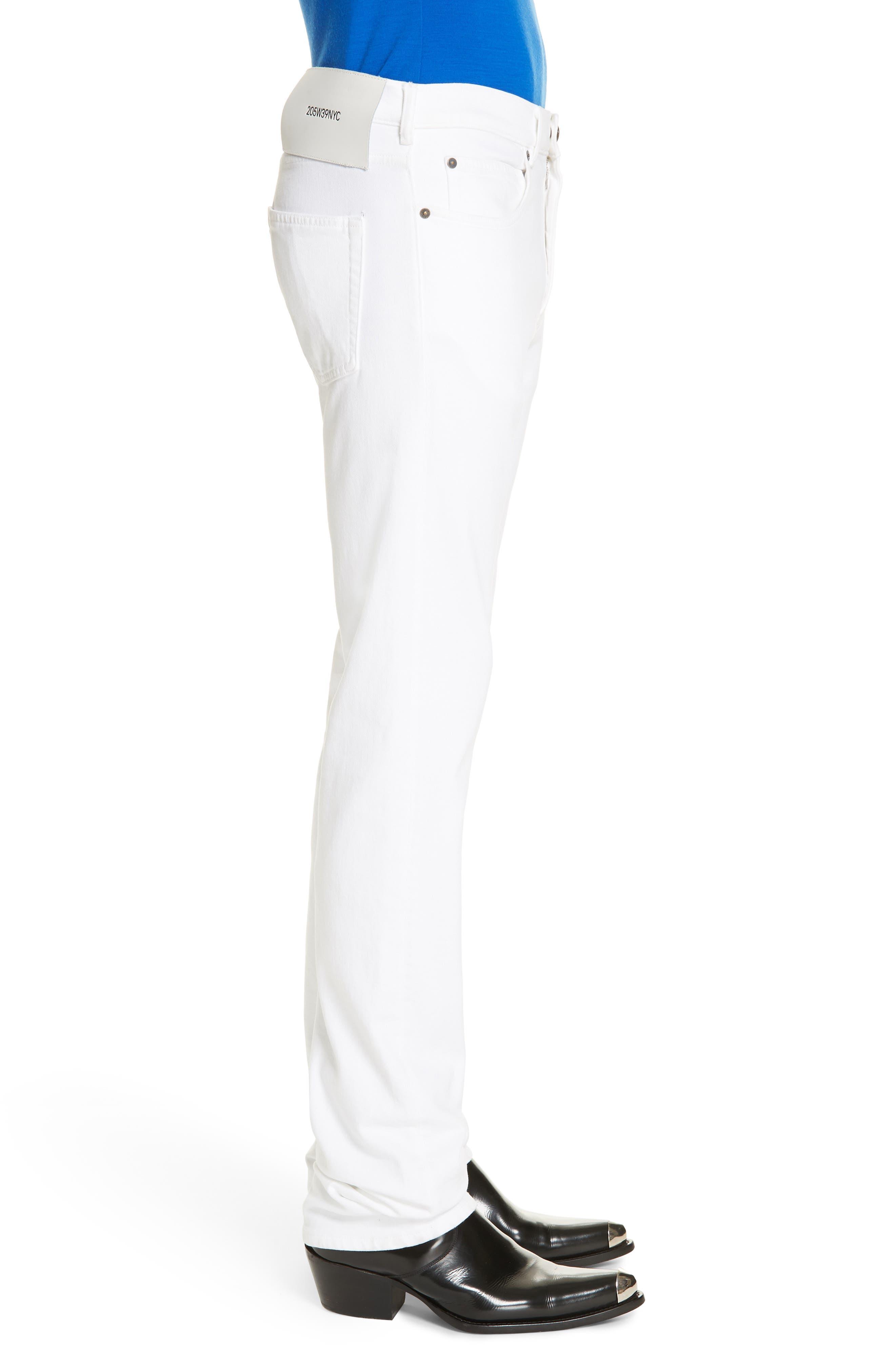 ,                             White Denim Pants,                             Alternate thumbnail 3, color,                             OPTIC WHITE