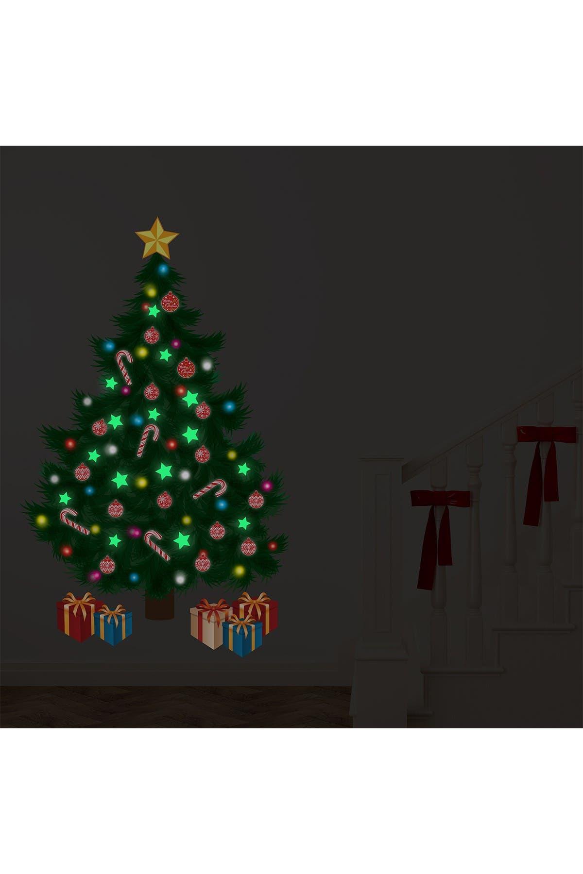 Image of WalPlus Traditional Christmas Tree Glow in the Dark Decal
