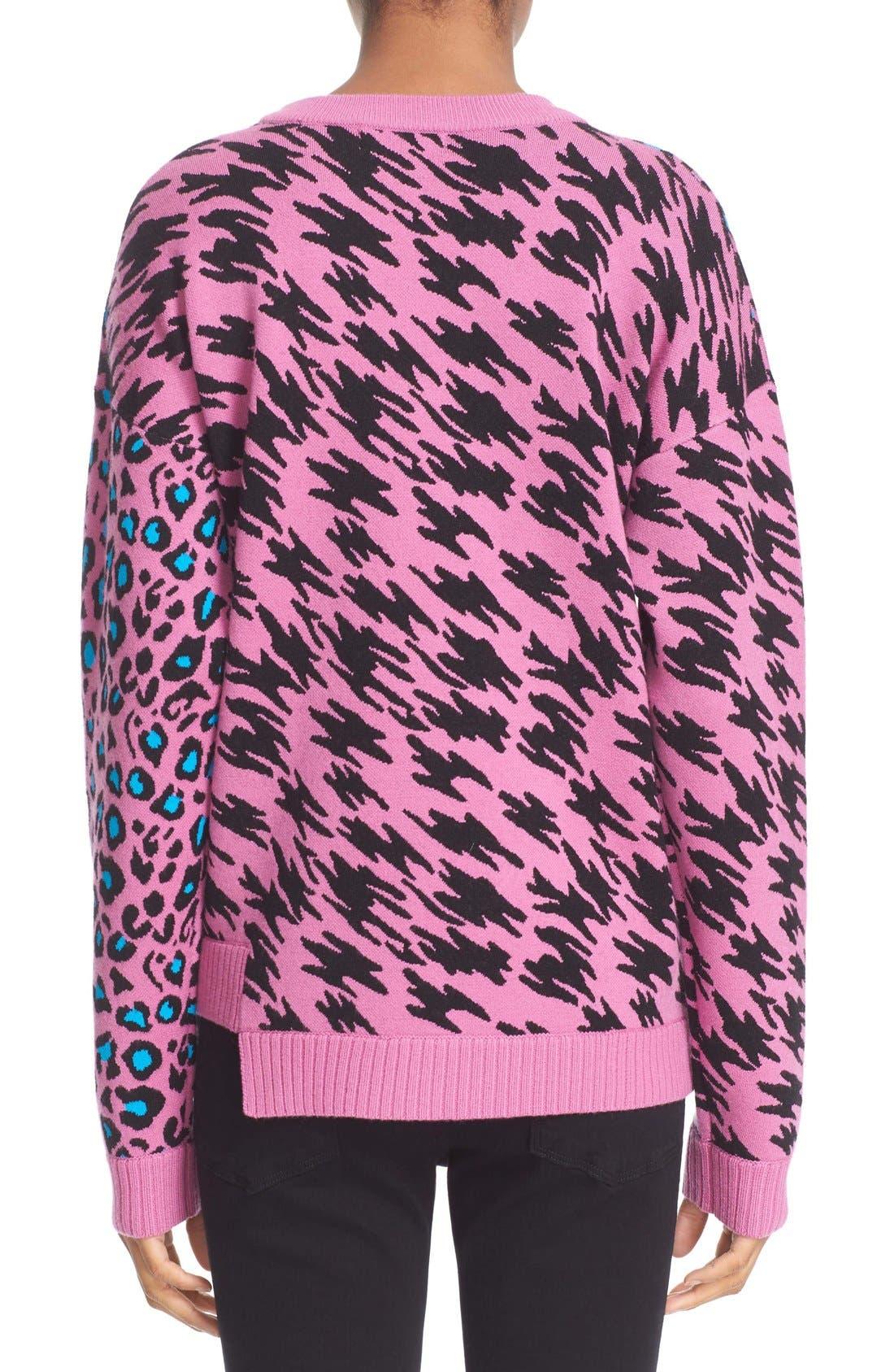 ,                             Intarsia Knit Sweater,                             Alternate thumbnail 3, color,                             674