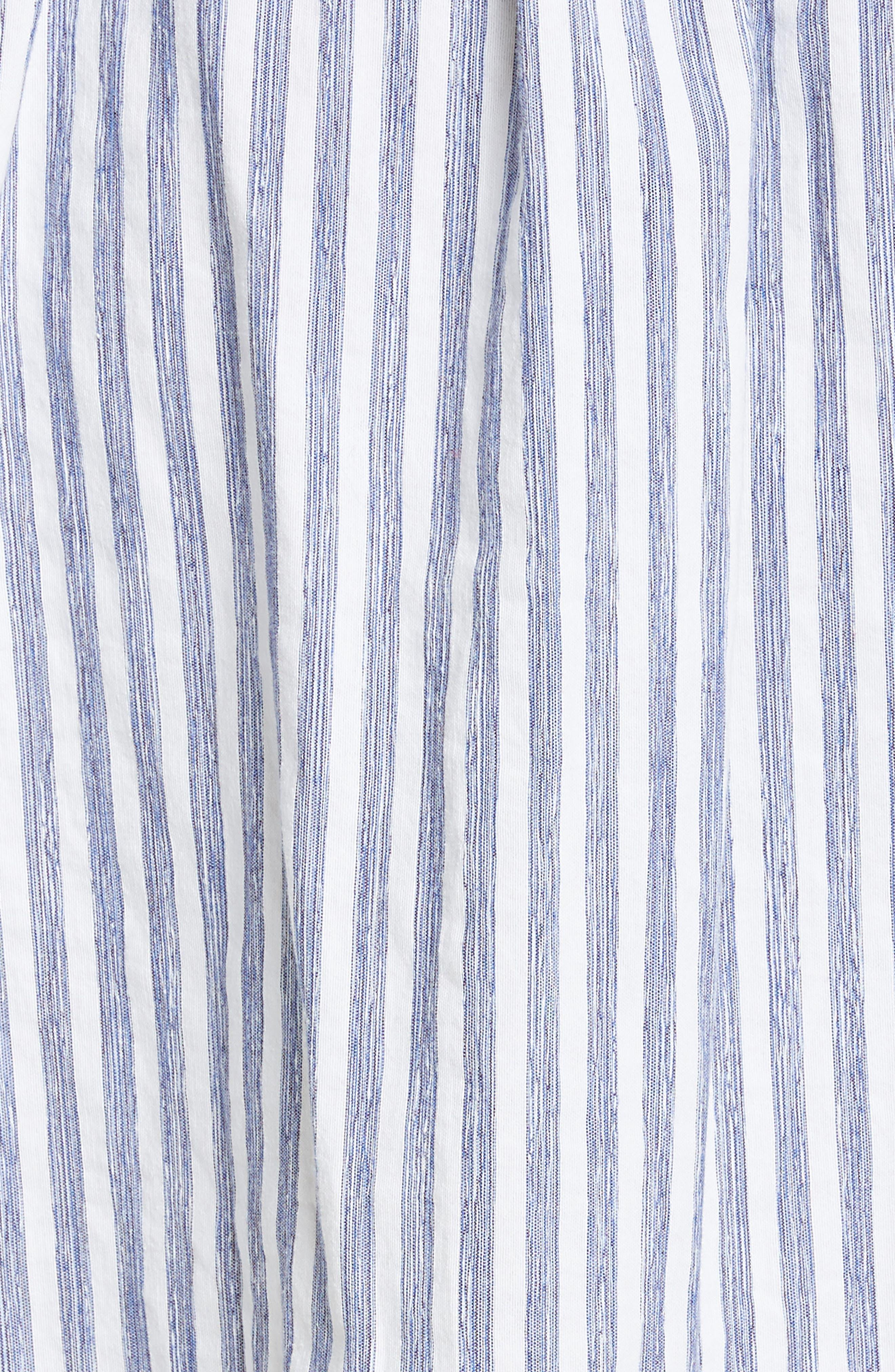 ,                             Oversize Stripe Shirt,                             Alternate thumbnail 6, color,                             INDIGO