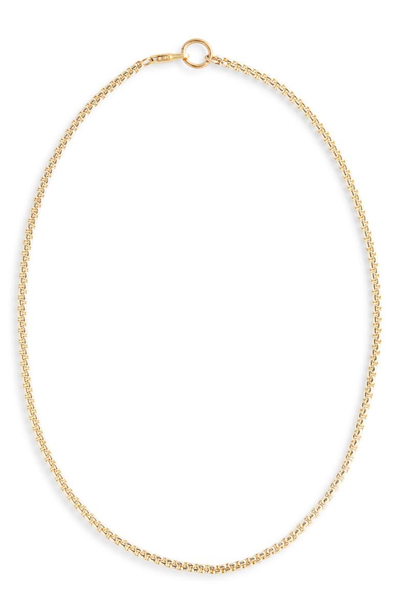 LAURA LOMBARDI Box Chain Necklace, Main, color, 710
