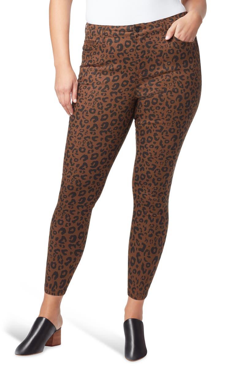 SANCTUARY Social Standard Leopard High Waist Ankle Skinny Pants, Main, color, LEOPARD
