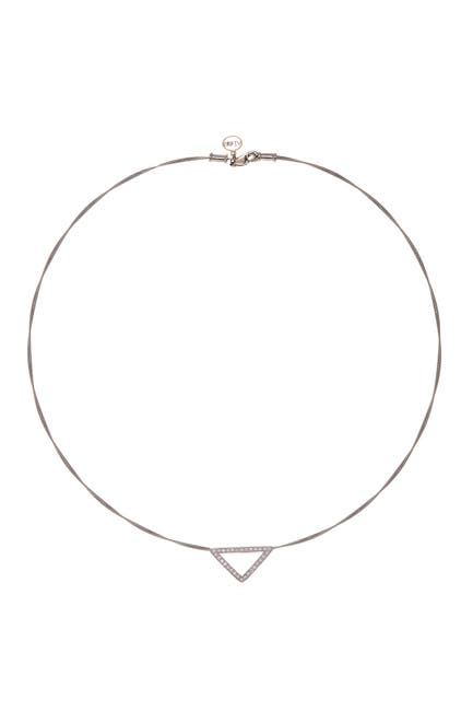 Image of ALOR Diamond Detail Open Triangle Charm Necklace - 0.26 ctw