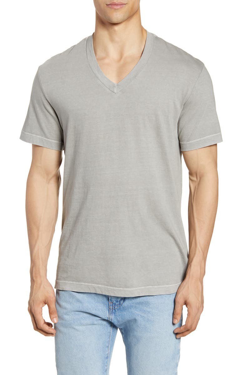 JAMES PERSE Short Sleeve V-Neck T-Shirt, Main, color, BOLT