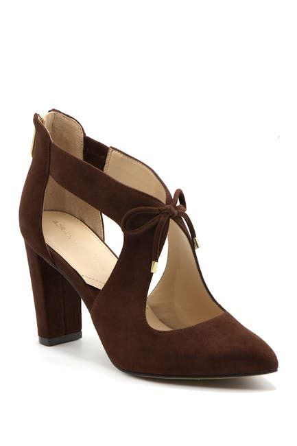 Image of Adrienne Vittadini Nigel Cutout Block Heel Pump