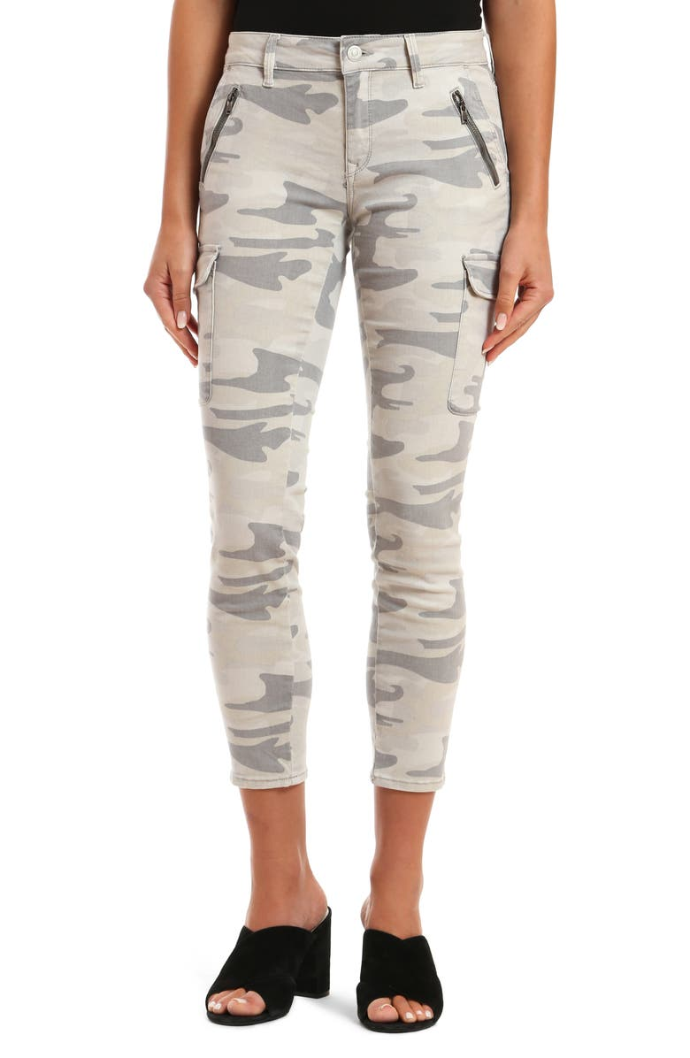 MAVI JEANS Juliette Ankle Skinny Jeans, Main, color, GREY CAMO
