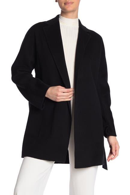 Image of Vince Waist Belt Wool Blend Cardigan Coat