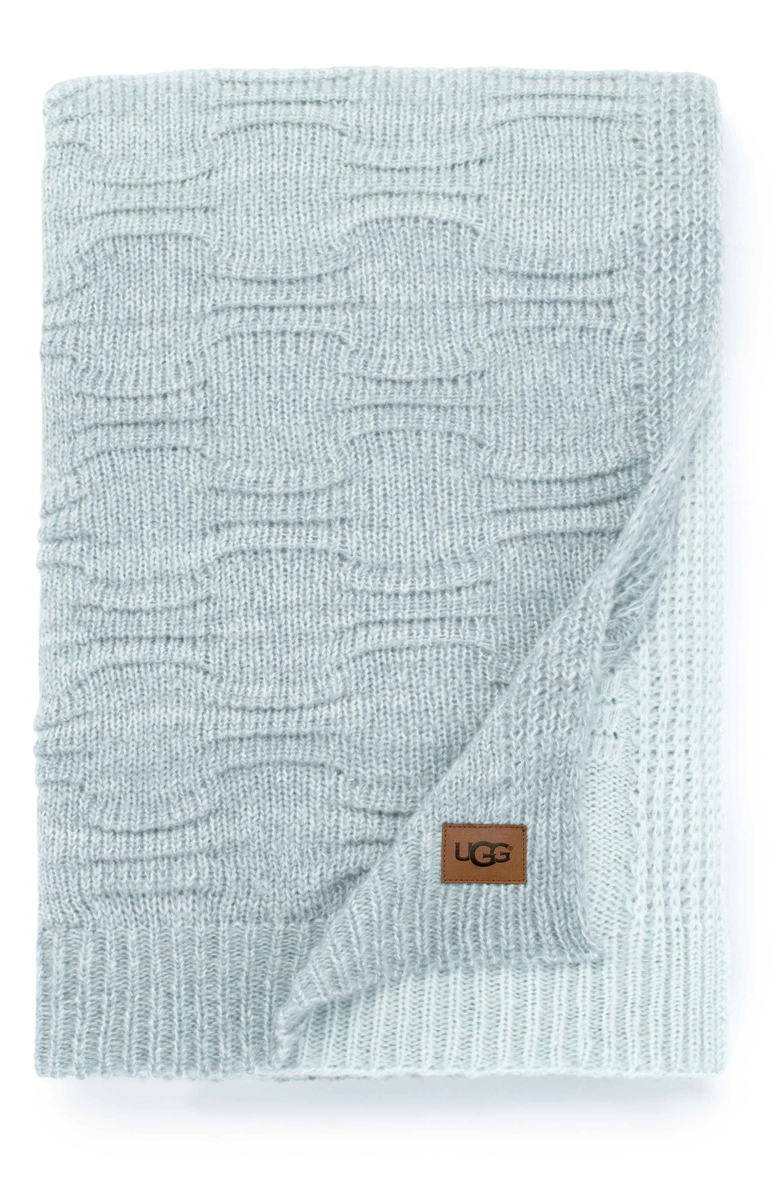 ,                             Offshore Throw Blanket,                             Main thumbnail 1, color,                             MIST