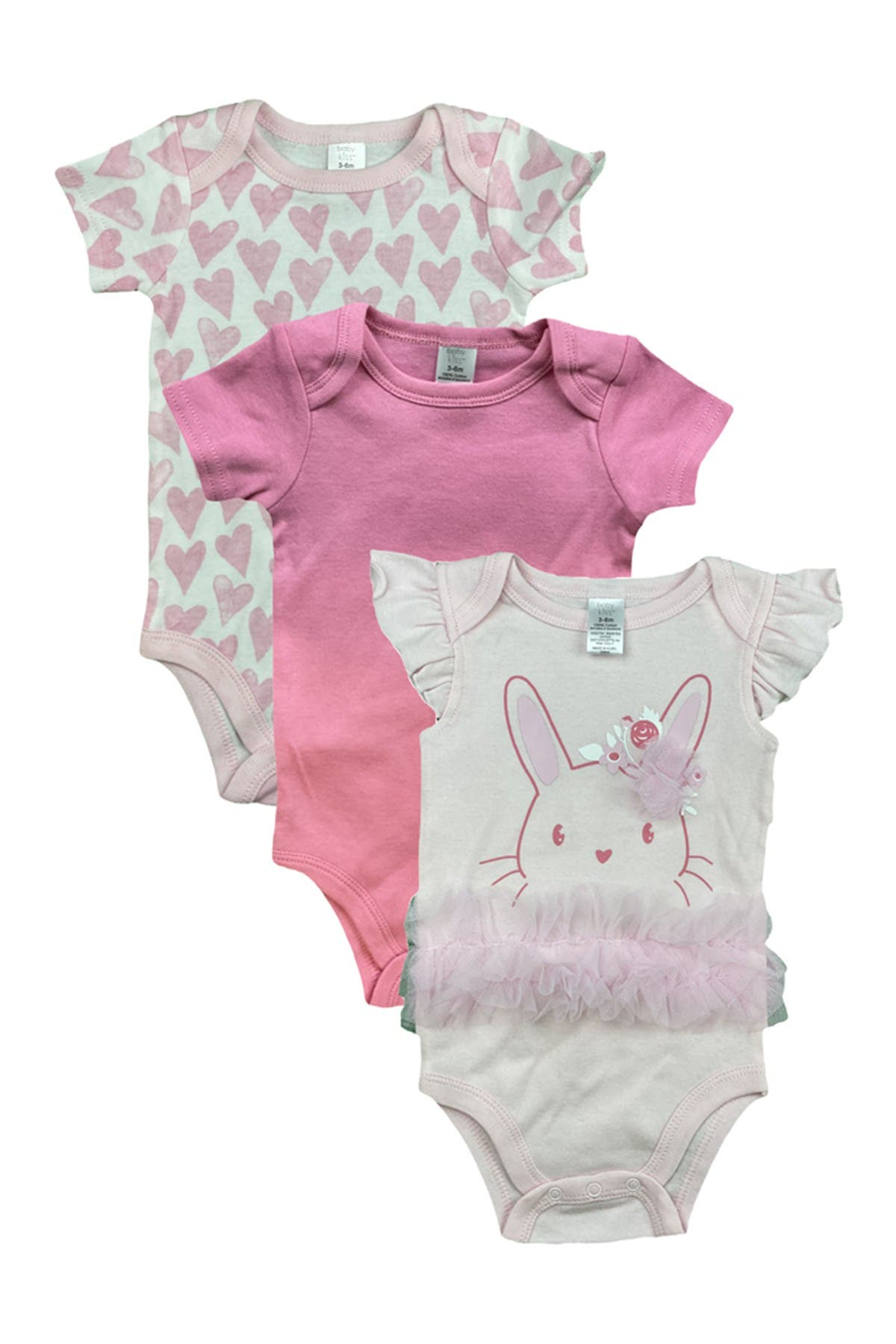 Image of Modern Baby Novelty Assorted Bodysuit - Pack of 3