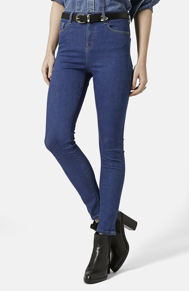 TOPSHOP 'Jamie' High Rise Crop Jeans, Main, color, 400