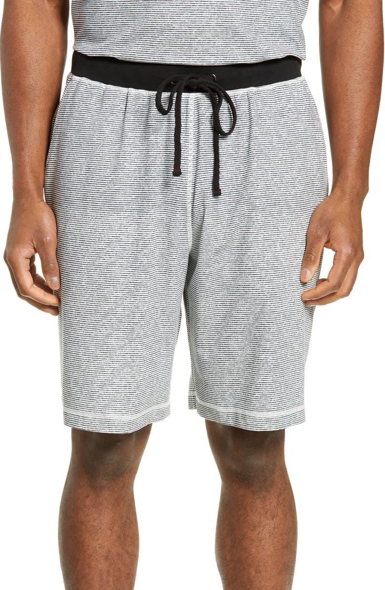 DANIEL BUCHLER Stretch Cotton & Modal Shorts, Main, color, BLACK