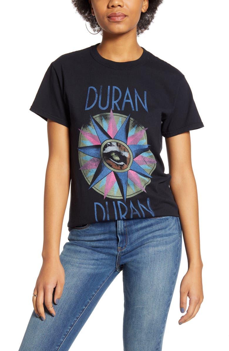 VINYL ICONS Duran Duran Graphic Tee, Main, color, BLACK