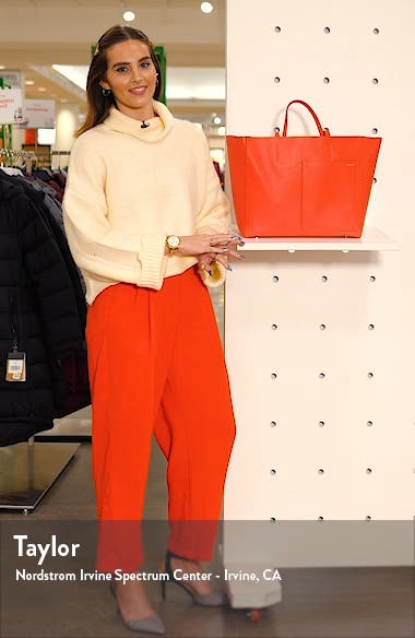 Grained Leather Tote, sales video thumbnail