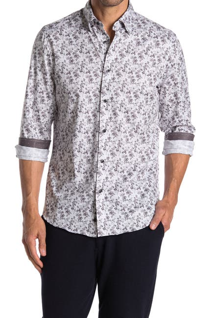 Image of BROOKLYN BRIGADE Multi Flower Print Performance Shirt
