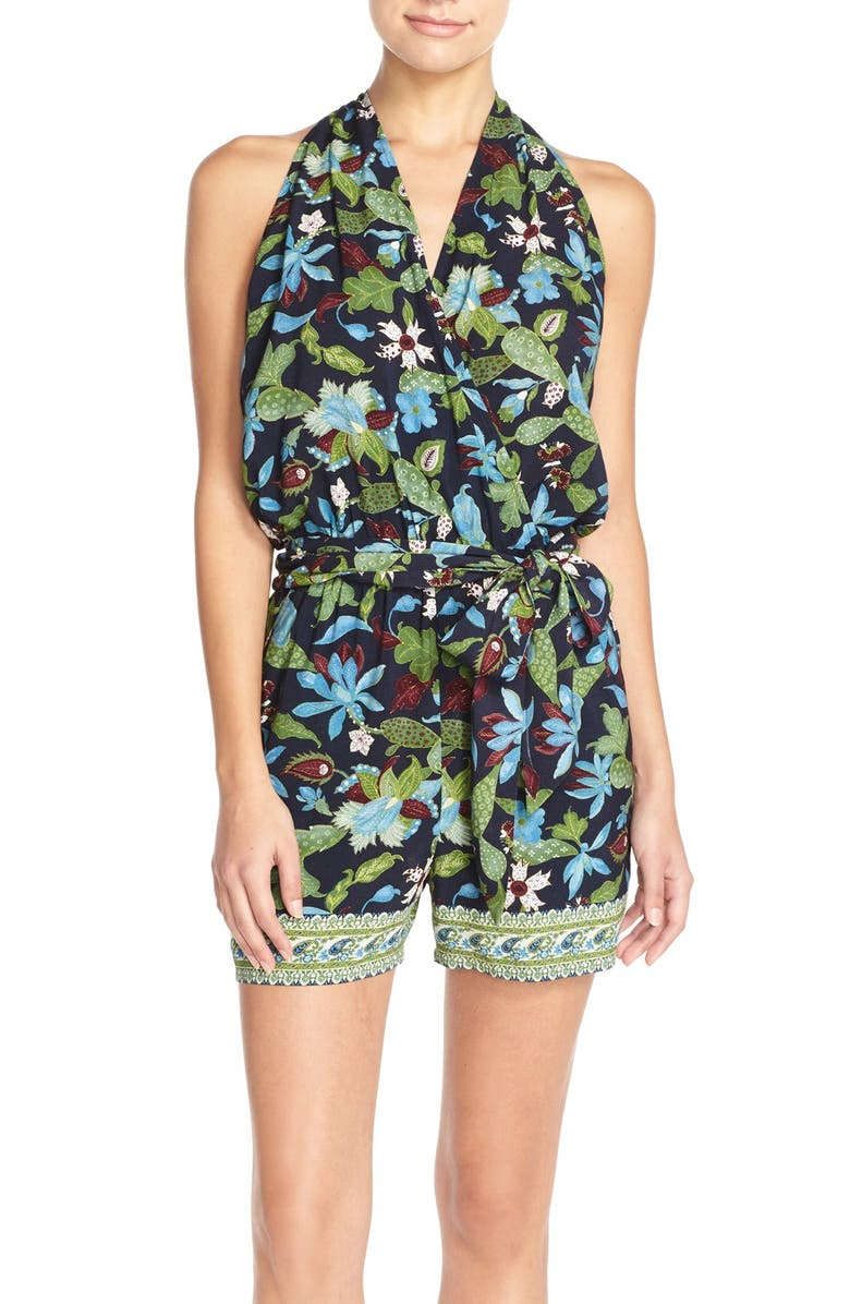 TORY BURCH Cover-Up Romper, Main, color, 413