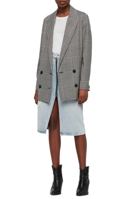 Image of ALLSAINTS Helei Check Oversize Blazer