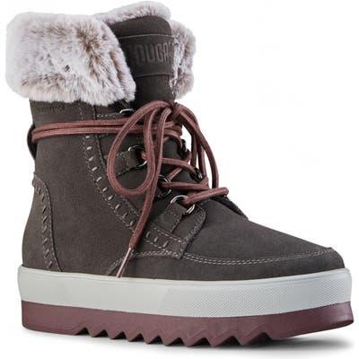 Cougar Vanette Genuine Rabbit Fur Trim Waterproof Boot, Grey