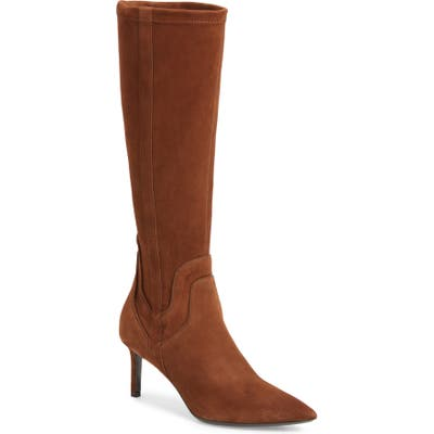 Aquatalia Mariel Weatherproof Tall Boot- Brown
