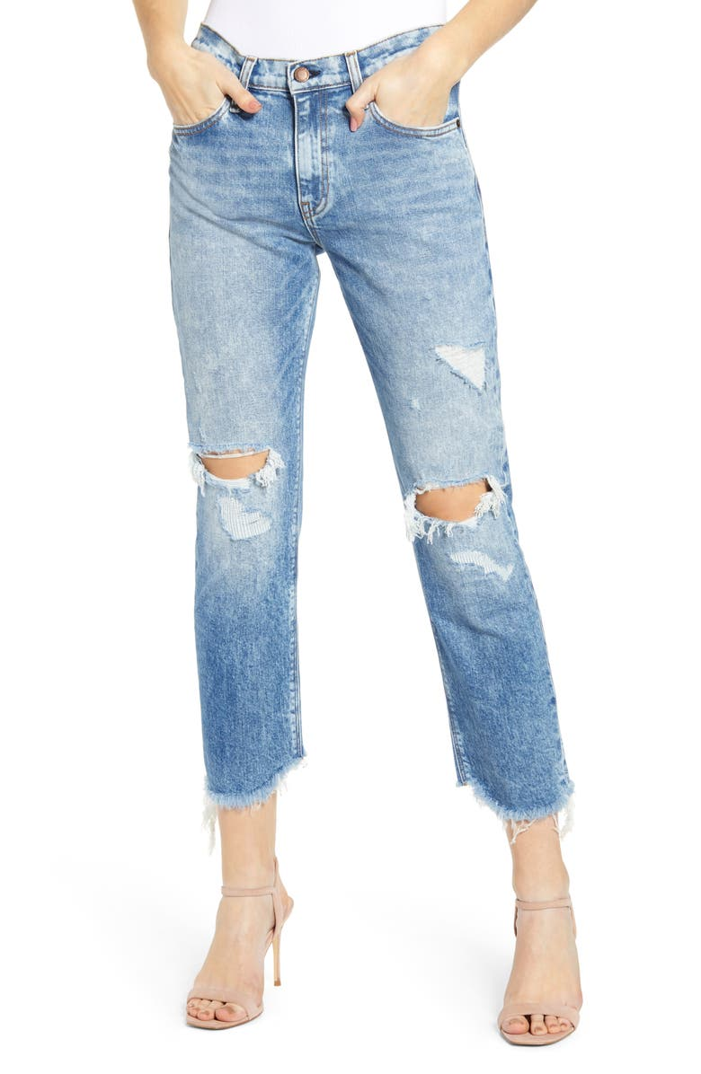 HUDSON JEANS Jessi Ripped Ankle Boyfriend Jeans, Main, color, ITS OVER