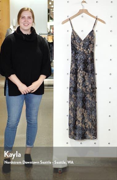 Print Crisscross Back Midi Dress, sales video thumbnail