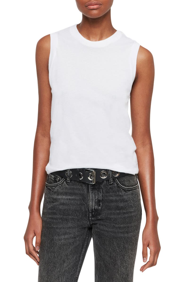 ALLSAINTS Imogen Tank, Main, color, OPTIC WHITE