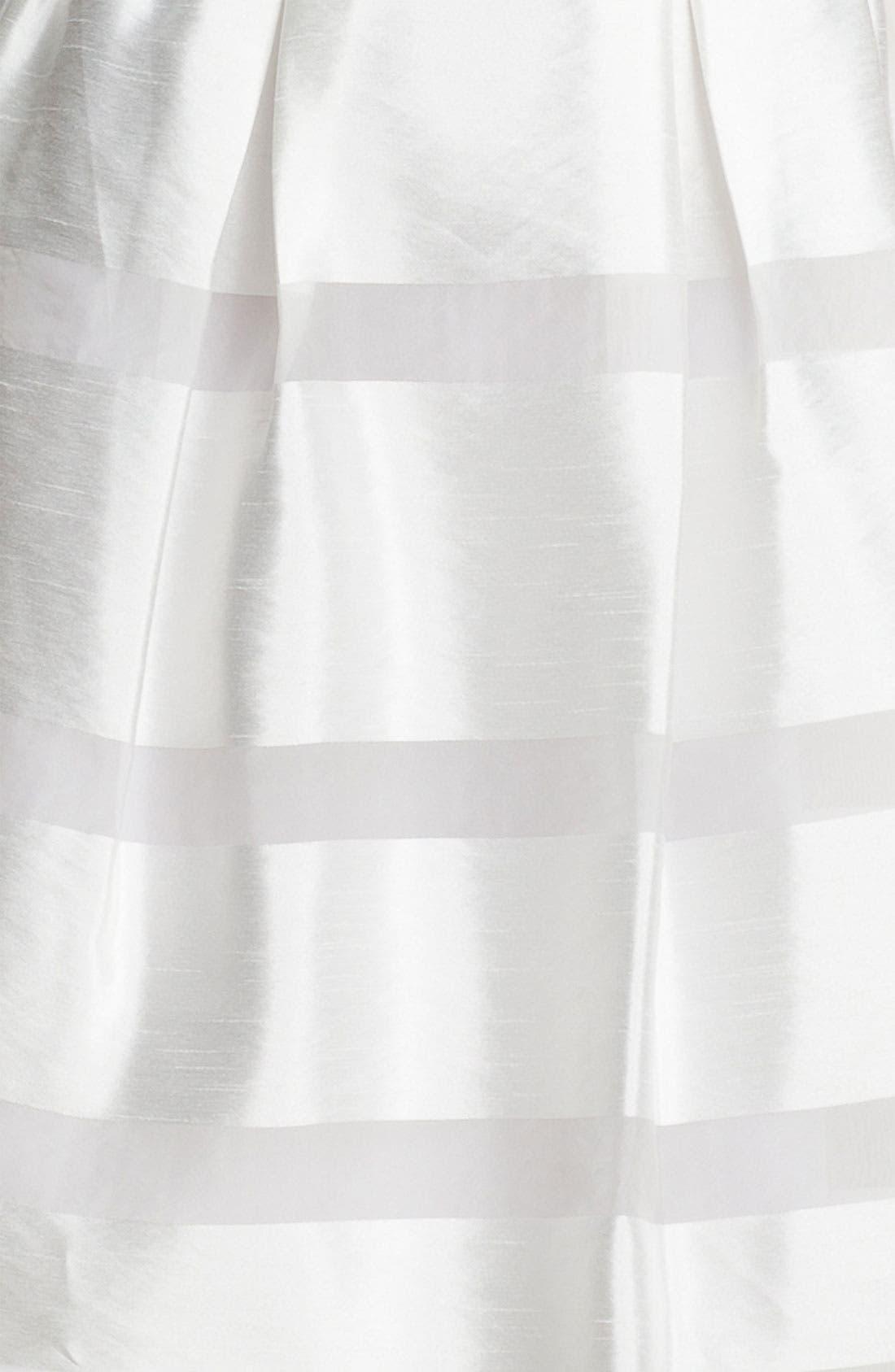,                             Tonal Stripe Fit & Flare Dress,                             Alternate thumbnail 6, color,                             100
