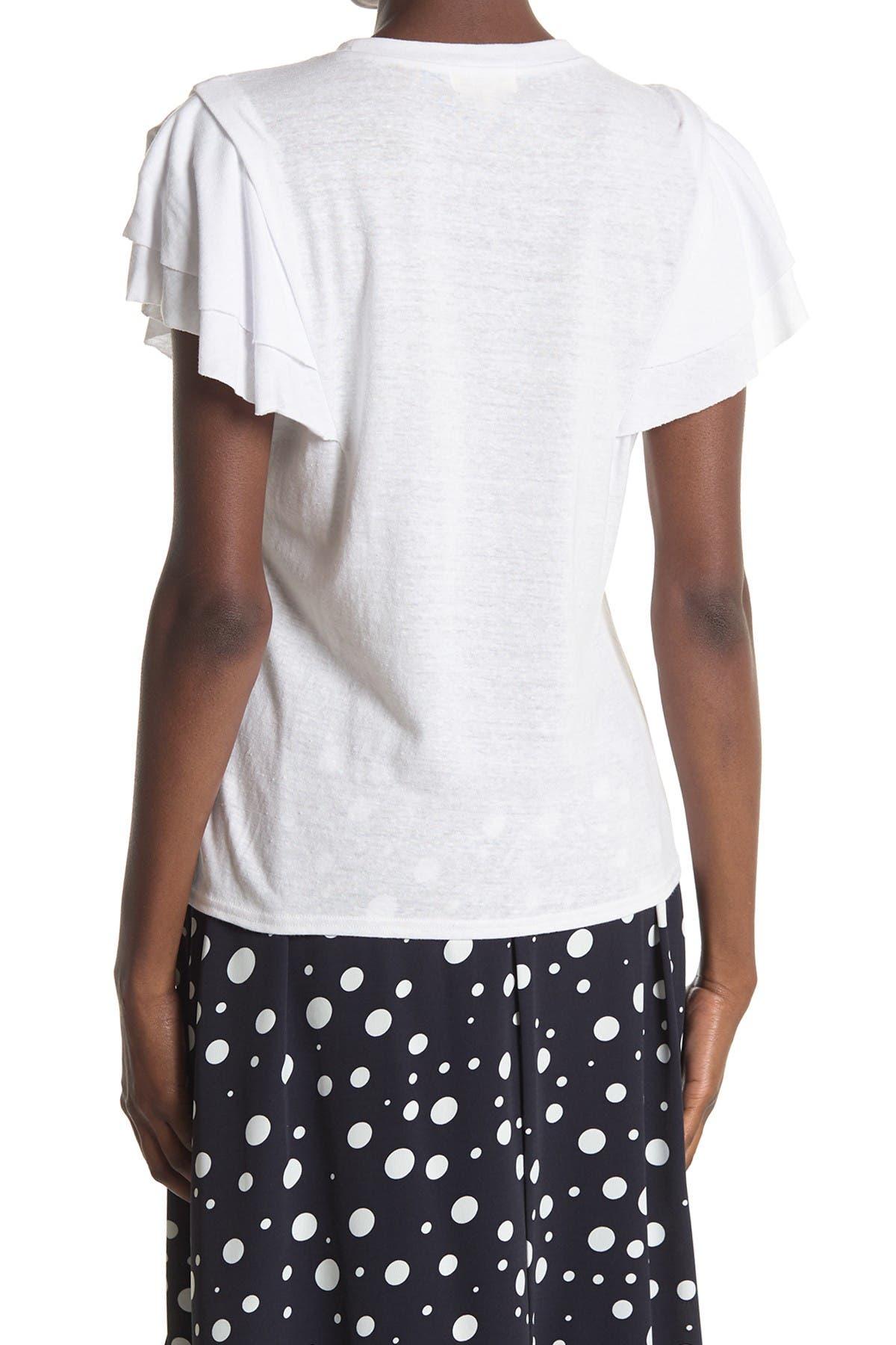 Image of MELLODAY Tiered Ruffle Sleeve T-Shirt