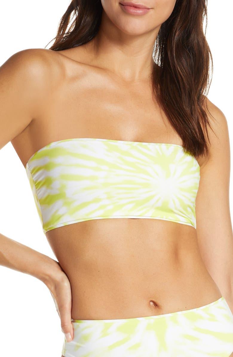 SEAFOLLY Beach Break Tube Bikini Top, Main, color, LIMEADE