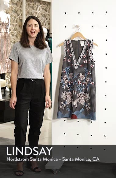 Yumiko Embroidered Shift Dress, sales video thumbnail