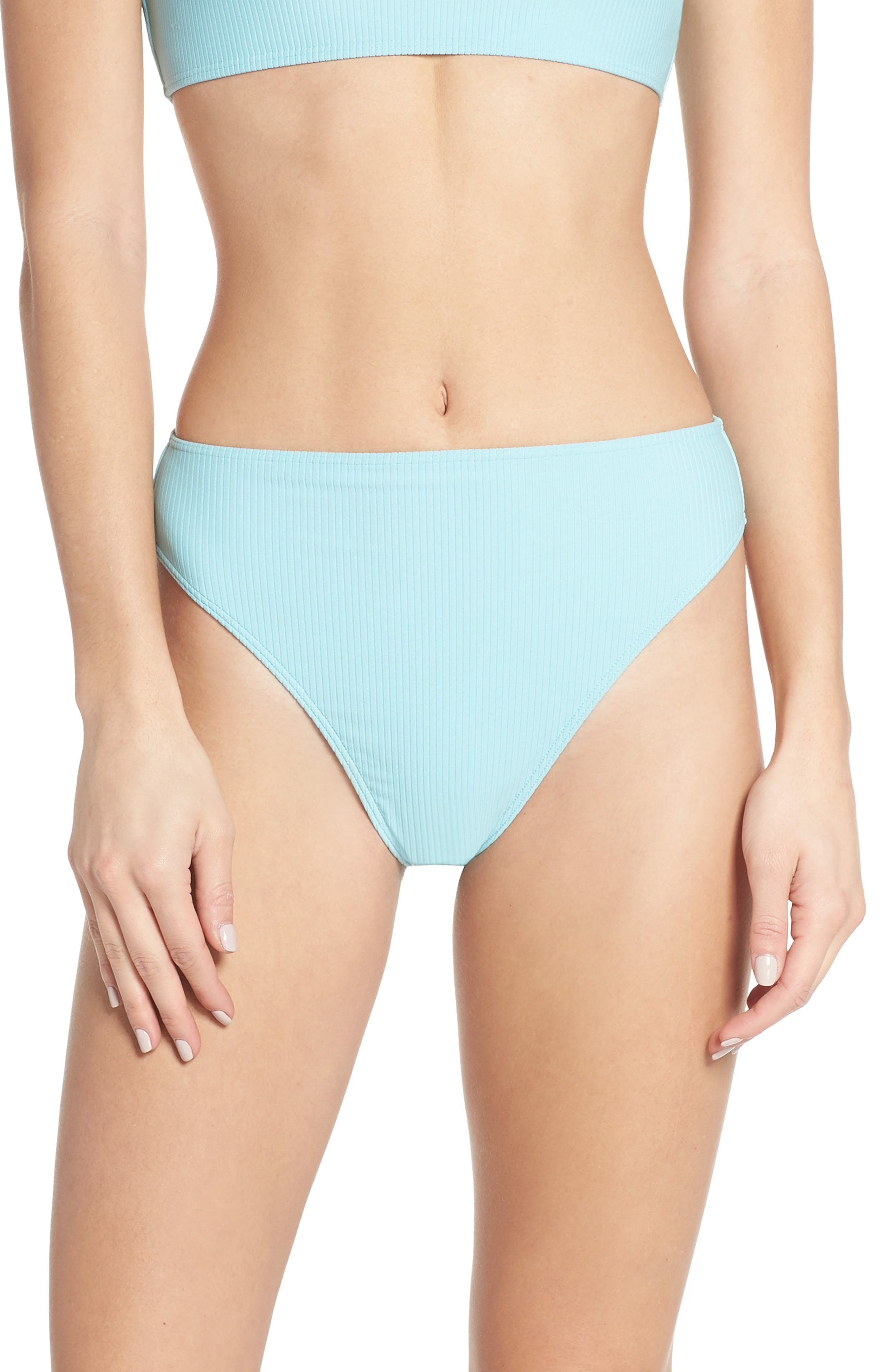 Something Navy High Waist Ribbed Bottoms, Size - (Nordstrom Exclusive)
