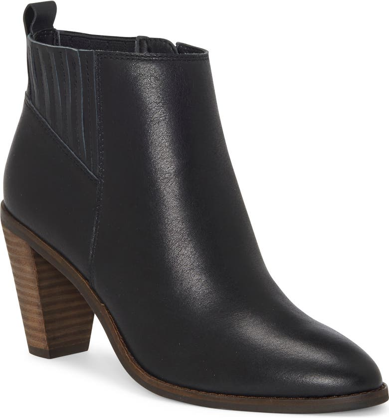 LUCKY BRAND Nesly Bootie, Main, color, BLACK LEATHER