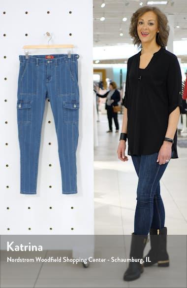Stripe Skinny Cargo Jeans, sales video thumbnail