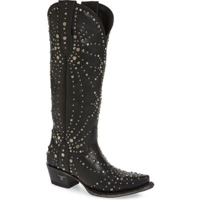 Lane Boots Sparks Fly Studded Western Boot, Black