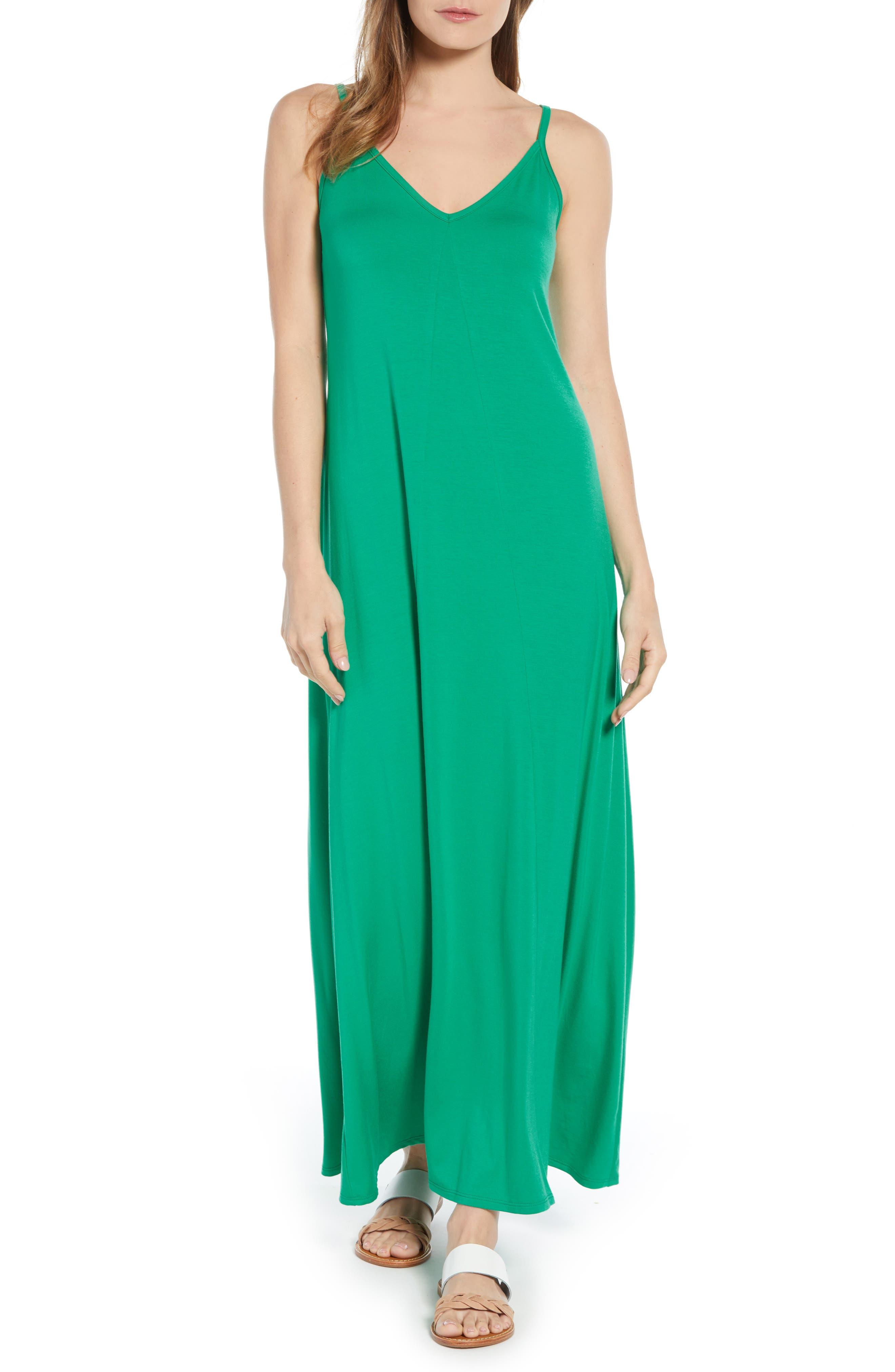 Petite Gibson X Living In Yellow Hazel Casual Knit Maxi Dress, Green (Regular & Petite) (Nordstrom Exclusive)