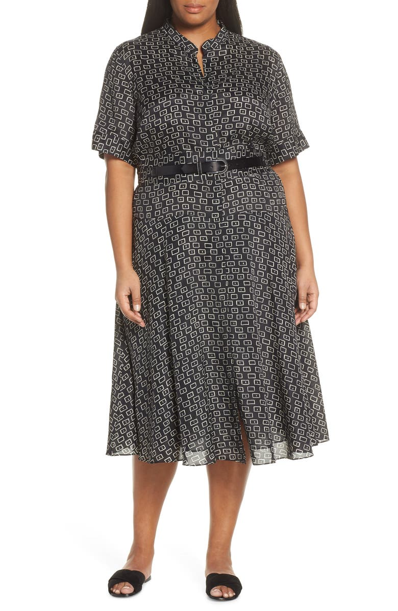 LAFAYETTE 148 NEW YORK Augustina Piazza Print Dress, Main, color, 001