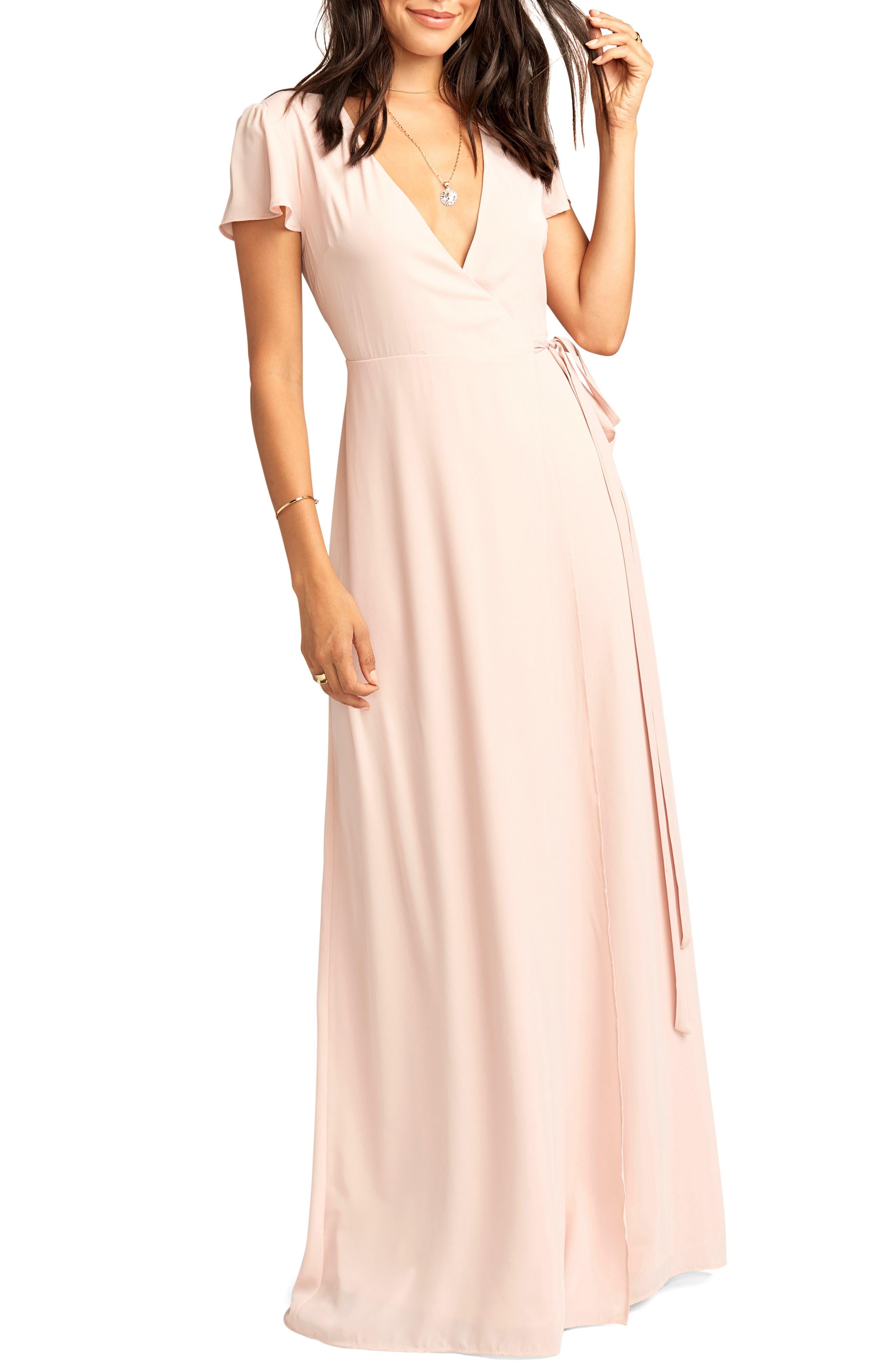 Show Me Your Mumu Noelle Wrap Dress, Pink