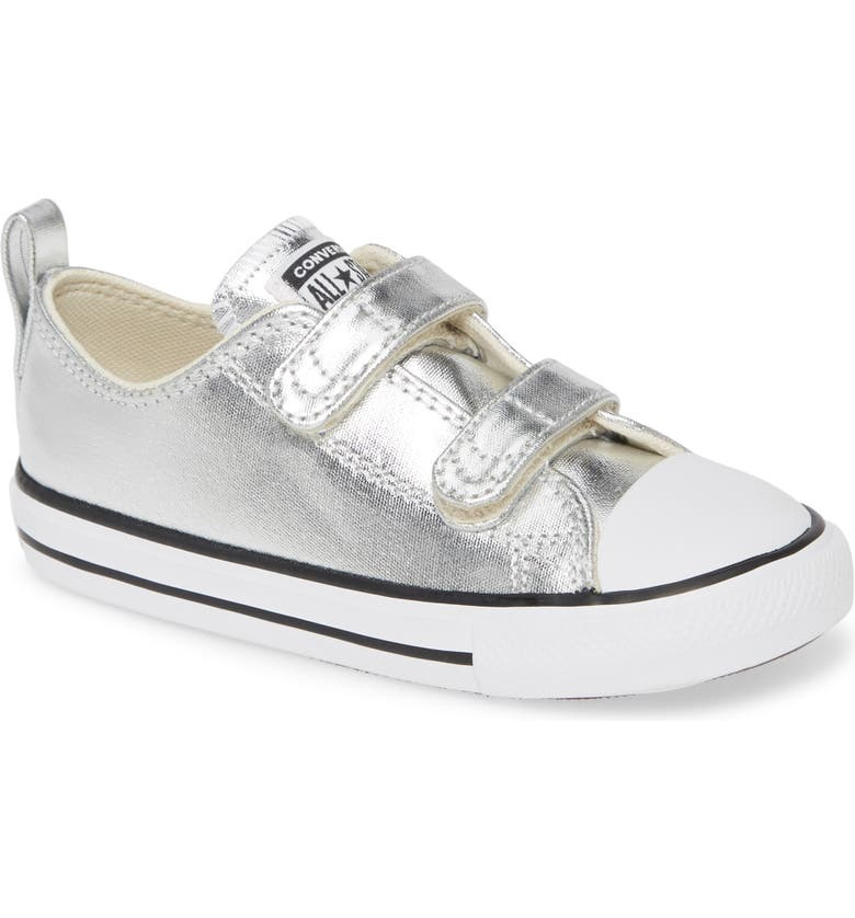 CONVERSE Chuck Taylor<sup>®</sup> All Star<sup>®</sup> 2V Double Strap Metallic Sneaker, Main, color, 040