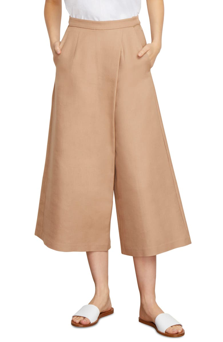 HABITUAL Dillion Front Overload Wide Leg Pants, Main, color, KHAKI