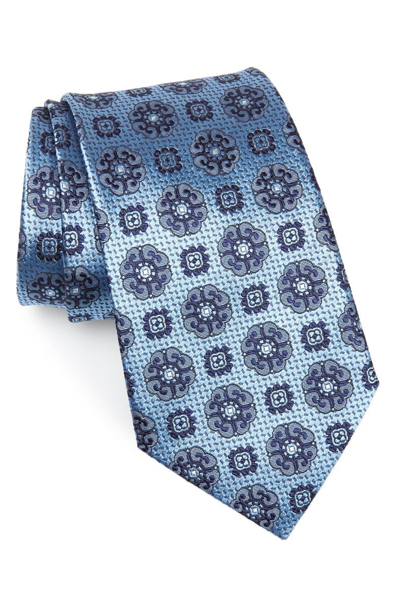 ERMENEGILDO ZEGNA Geometric Silk Tie, Main, color, 438