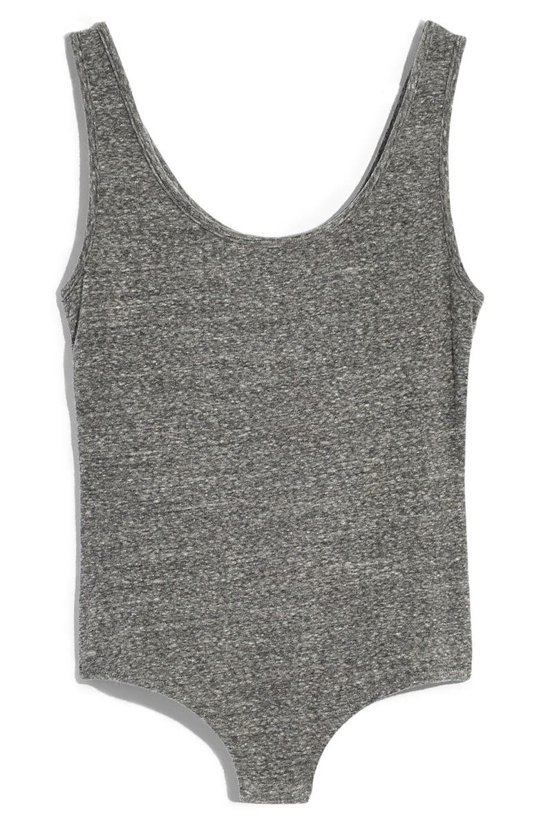 MADEWELL Tank Bodysuit, Main, color, HTHR SMOKE