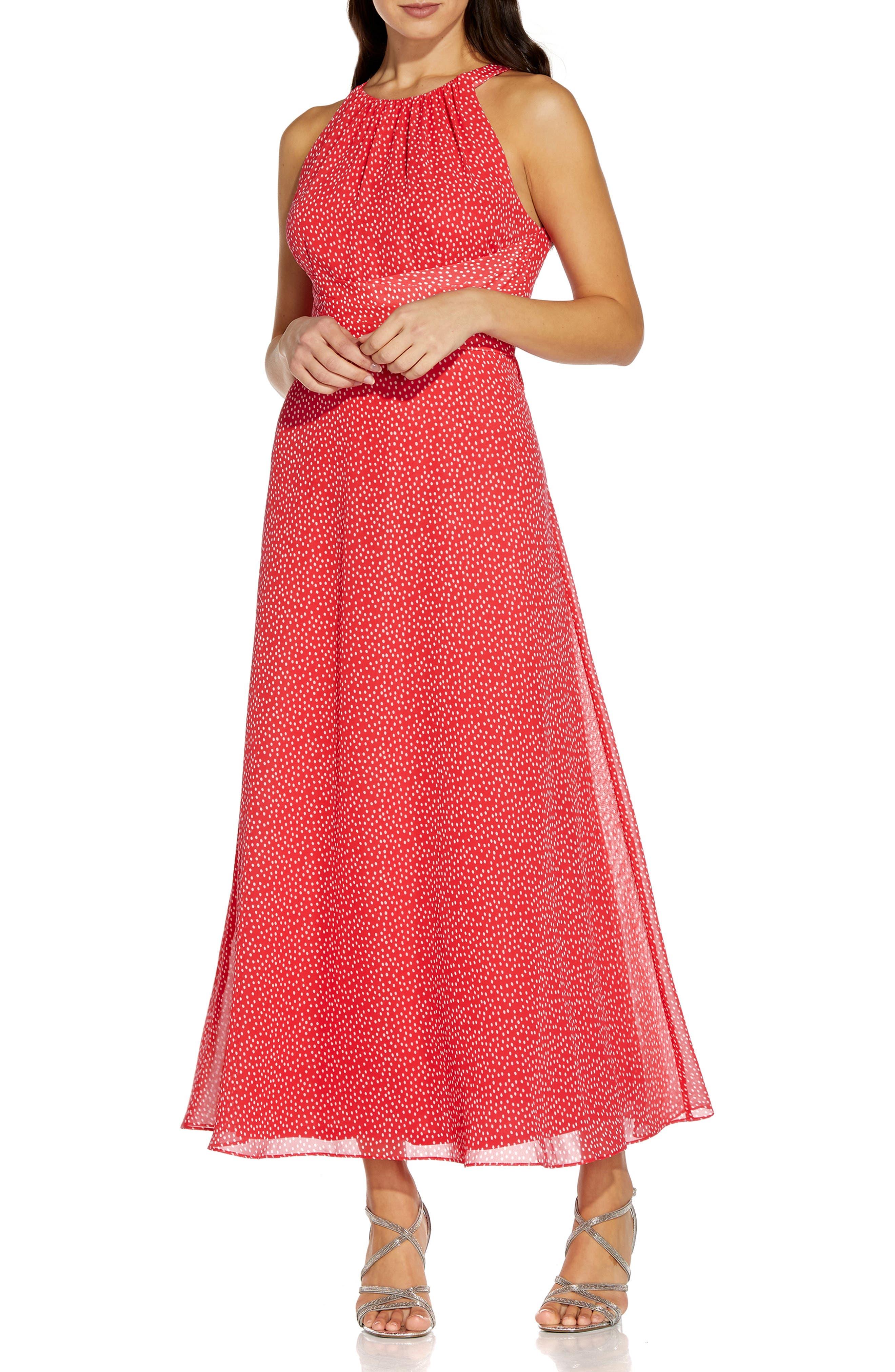 Darling Dot Sleeveless Chiffon Dress