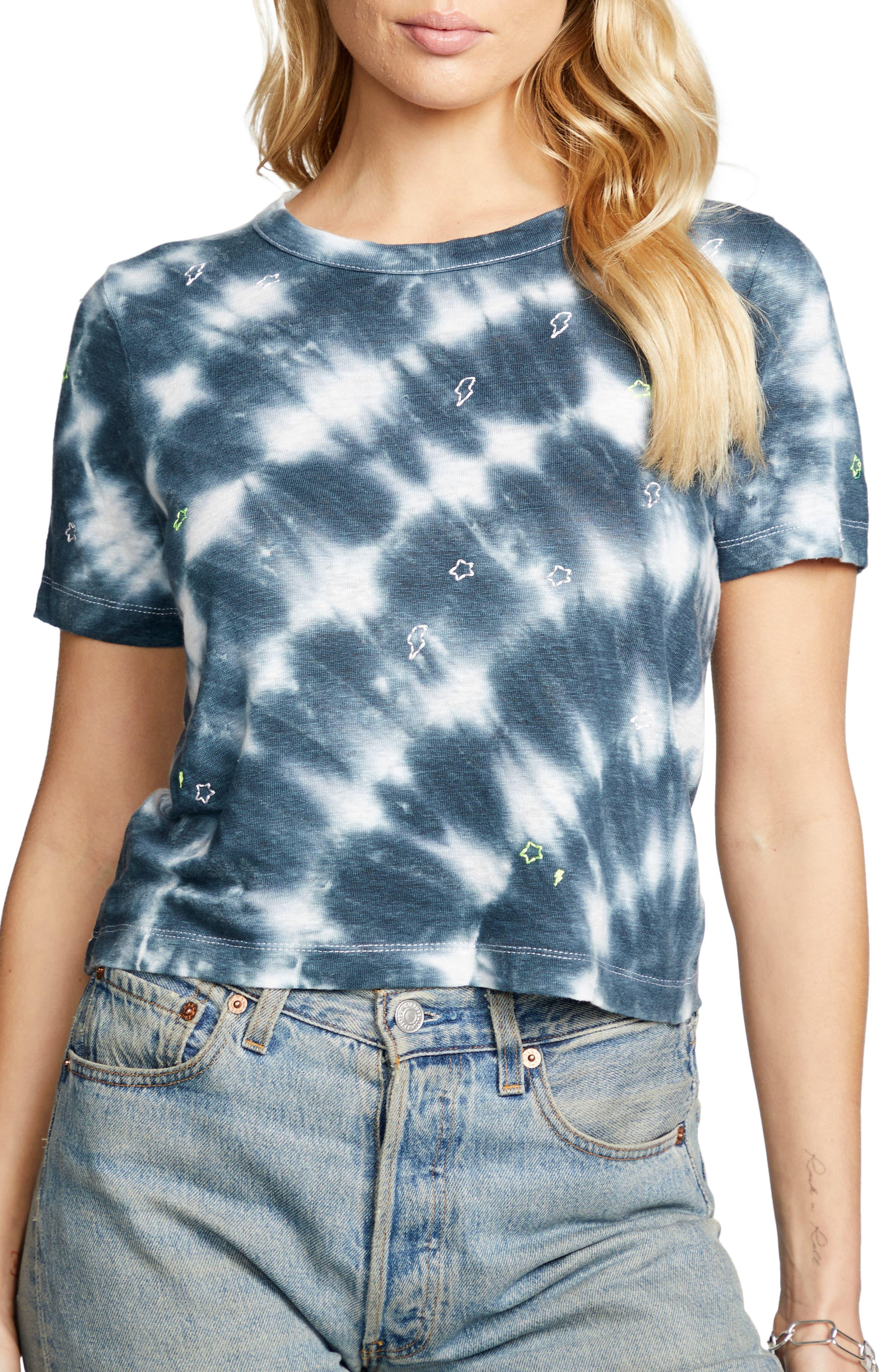Tie Dye Linen Crop T-Shirt
