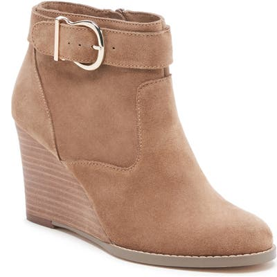Sole Society Peytal Wedge Bootie- Brown
