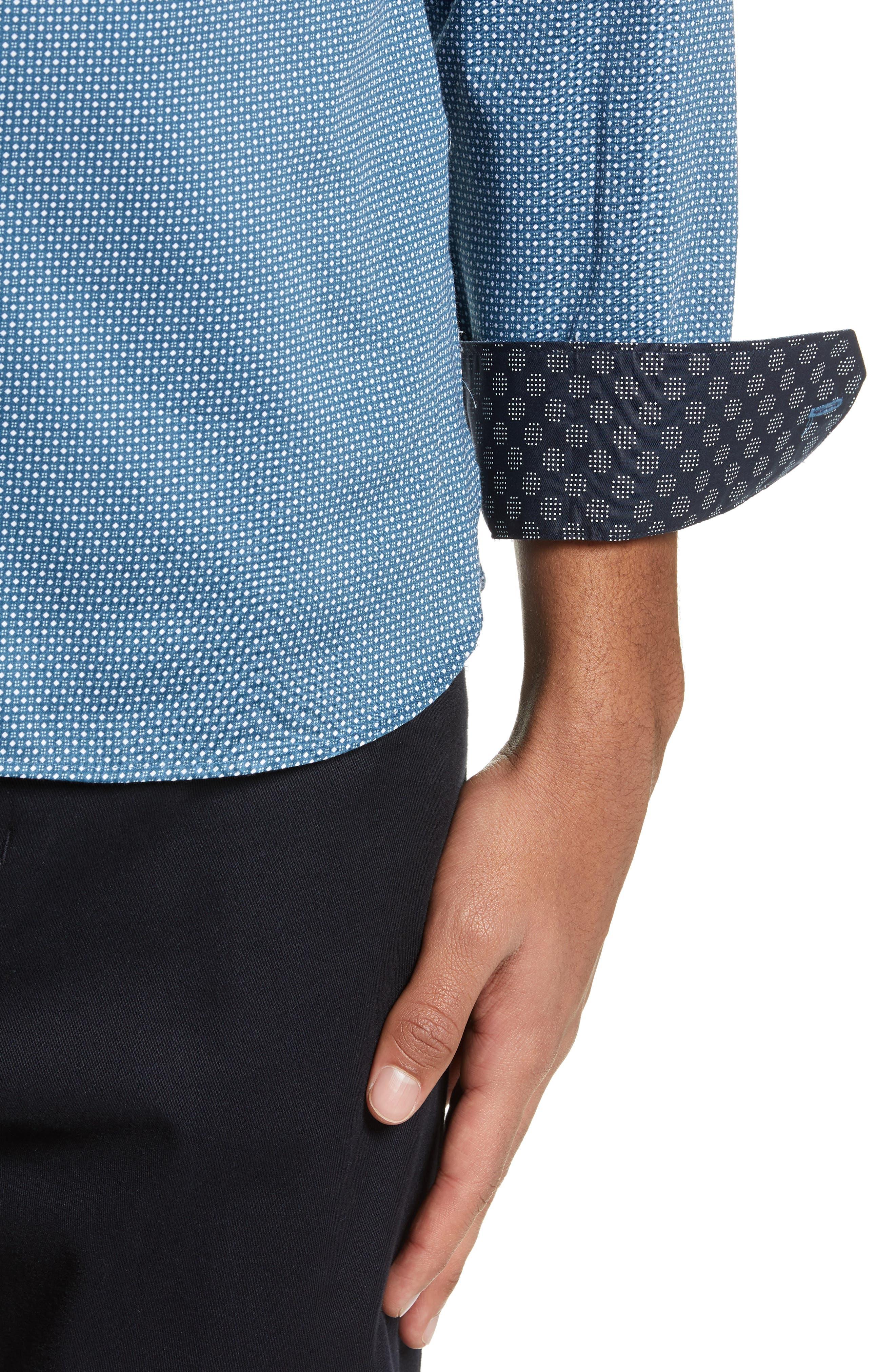 ,                             Subik Slim Fit Geo Print Sport Shirt,                             Alternate thumbnail 13, color,                             421